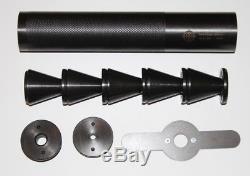 Silencieux À Ailettes En Acier Véritable 1 / 2-28 Tpi Hatsan Gunpower Suppresseur + Clé