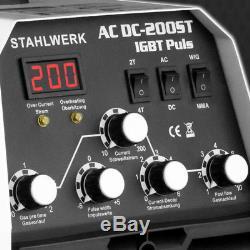 Soudeuse Stahlwerk Ac / CC Tig 200 St Igbt Pulse Profi Inverter Machine De Soudage