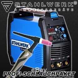 Soudeuse Stahlwerk Tig 200 S Soudeuse Compact DC Hf Inverter Professional