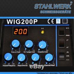 Stahlwerk Schweißgerät Wig 200 Puls S Machine De Soudage DC Tig Inverter Welder