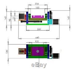 Table D'axes Rotatifs 4e Rapport D'axes 5ème 81 61 Mandrin De Tête Diviseur Cnc 3 Mâchoires 100mm