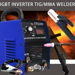 Tig Arc Soudeuse Onduleur Igbt Mma 240v / 200 Amp / DC Portable Machine Uk Stock