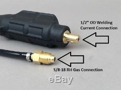 Torche Tig 17v À Connexion Directe Htp 12 'compatible Avec Lincoln Power Mig 210mp