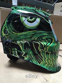 Tth Welding / Grinding Helmet Auto Darkening Avec Sensible Et Contrôle De Temps De Retard