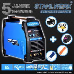 Vollausstattung Schweißgerät Ct 535 S DC Wig Avec Plasmaschneider 55 A / Mma