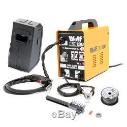 Wolf Mig 130 Soudeuse Portative 230v DC Aucun Gas Gasless 120a 120 Ampères